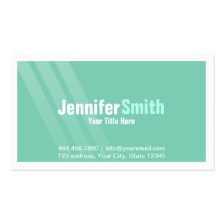 Elegant Light Turquoise With Stripes and Frame Pack Of Standard Business Cards