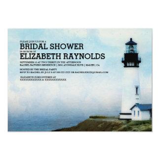 Elegant Lighthouse Bridal Shower Invitations