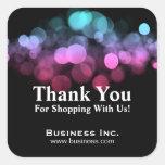 Elegant Lights Business Thank You Pink Blue