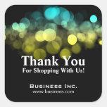 Elegant Lights Business Thank You Yellow Blue