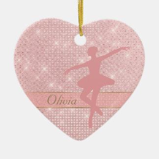 Elegant Lights Pink Ballerina Christmas Ornament