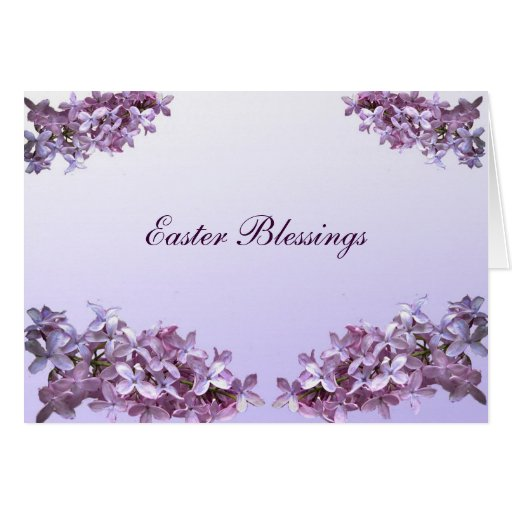Elegant Lilacs Easter Greeting Card
