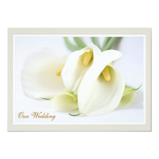 Elegant Lillies Wedding Invitations