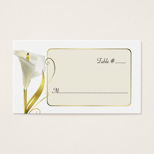 Elegant Lily Wedding Reception Place Cards