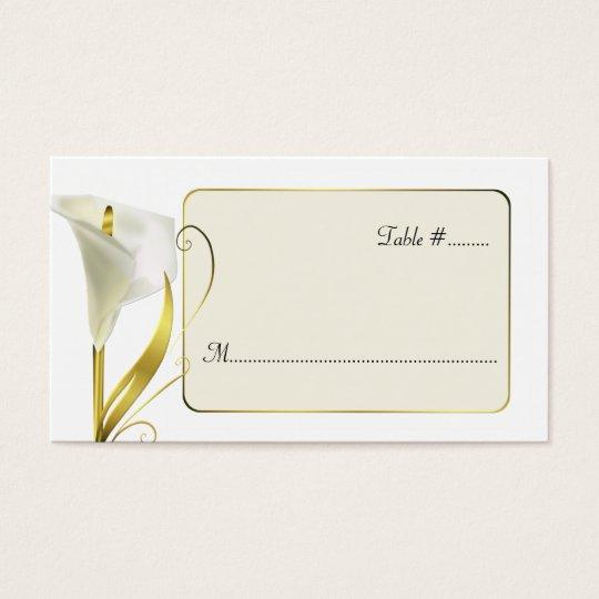 Elegant Lily Wedding Reception Place Cards