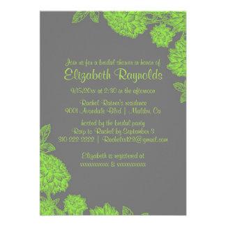 Elegant Lime Green Bridal Shower Invitations Custom Invites