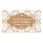 Elegant Linen Beige Damask Personalised Pack Of Standard Business Cards