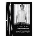"Elegant Lines and Dots Graduation 4.25"" X 5.5"" Invitation Card"