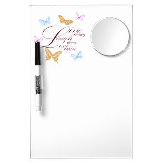 Elegant Live Laugh Love Dry Erase Whiteboards