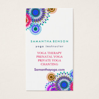 Elegant Logo Yoga Meditation Business Card