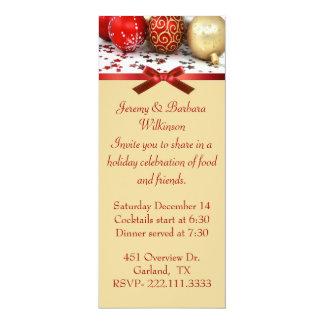 Elegant Long Christmas Party Invitation