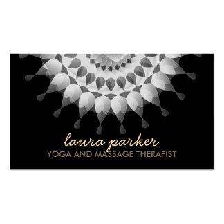 Elegant Lotus Flower Logo Yoga Healing Health Pack Of Standard Business Cards