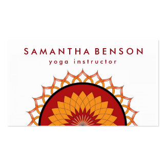 Elegant Lotus Flower Logo Yoga Pack Of Standard Business Cards