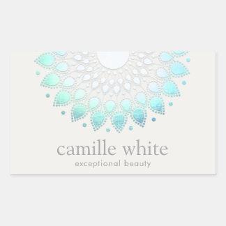 Elegant Lotus Holistic Spa and Beauty Rectangular Sticker