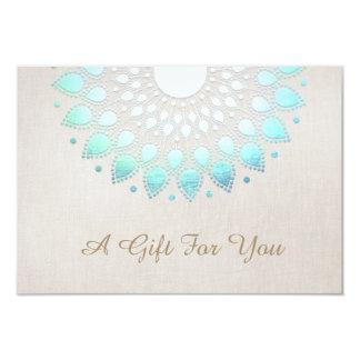 Elegant Lotus Salon and Spa Gift Certificate 9 Cm X 13 Cm Invitation Card