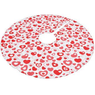 Elegant Love Heart Brushed Polyester Tree Skirt