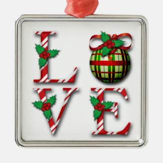 Elegant Love  Plaid Xmas Tree Decoration