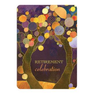 Elegant Love Trees Purple Retirement Party 13 Cm X 18 Cm Invitation Card