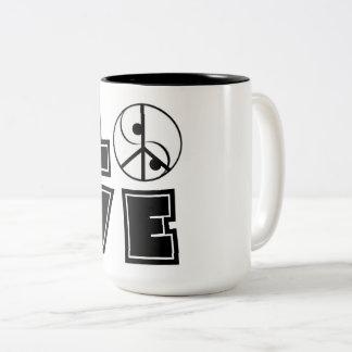 Elegant Love Two-Tone Coffee Mug