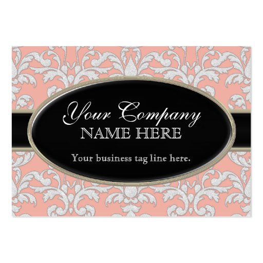 Elegant Luxurious Modern Damask Swirl Floral Style Business Card Templates