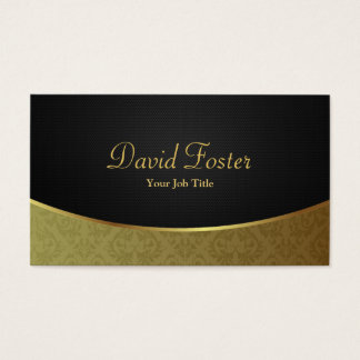 Elegant Luxury Black and Gold Damask Business Card