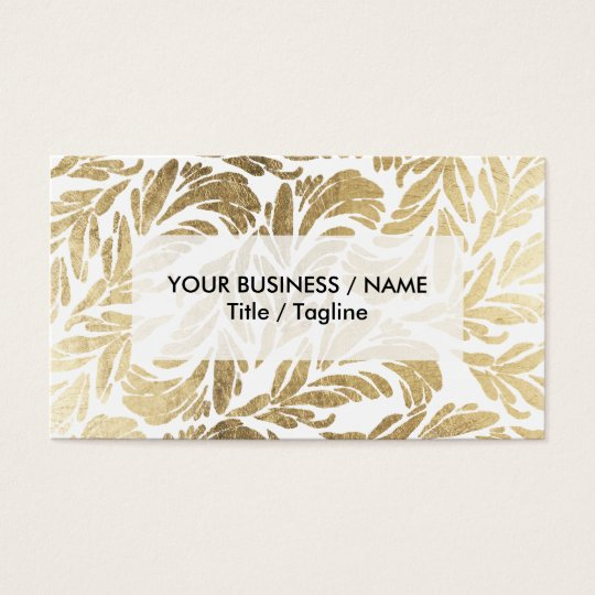 Elegant luxury custom faux gold foil floral damask