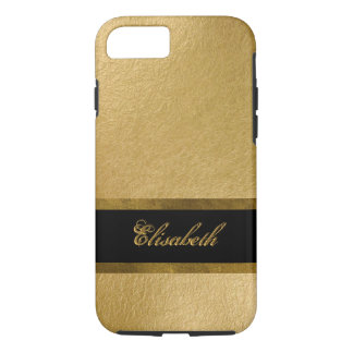 Elegant Luxury Gold Leaf 3D Custom Monogram iPhone 7 Case