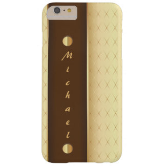 Elegant Luxury in Gold and Brown Barely There iPhone 6 Plus Case