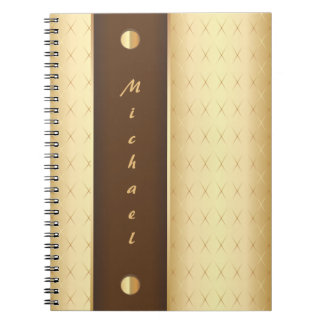 Elegant Luxury in Gold and Brown Notebooks