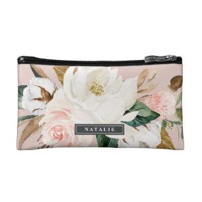 Elegant Magnolia | Blush Personalised Bridesmaid Cosmetic Bag