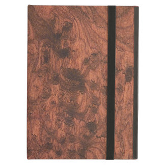 Elegant Mahogany Wood Grain Style Cover For iPad Air