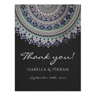 Elegant Mandala Wedding Thank You Postcards