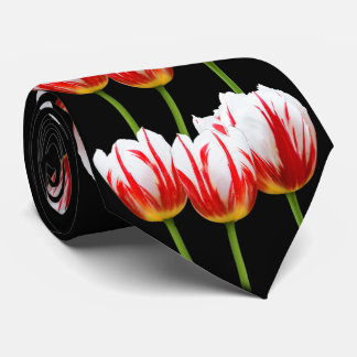 Elegant Maple Leaf Tulips Tie