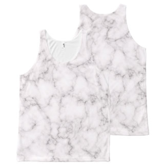 Elegant Marble All-Over Print Tank Top