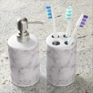 Elegant Marble Bathroom Set