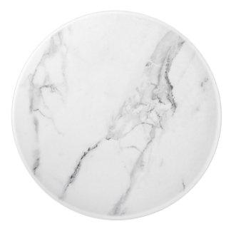 Elegant marble ceramic knob