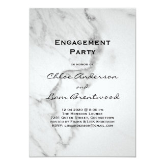 Elegant Marble Engagement Party Invitation