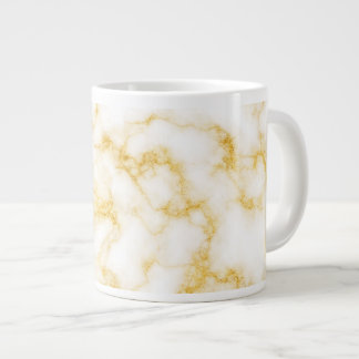 Elegant Marble - Gold White Large Coffee Mug