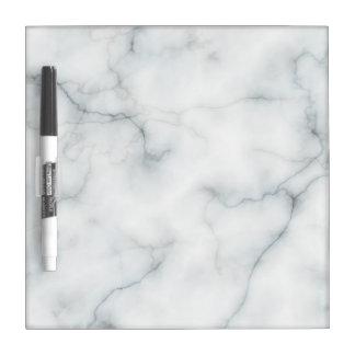 elegant marble look dry erase board
