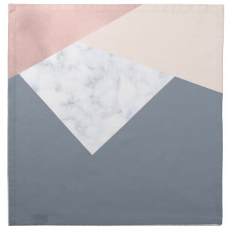 elegant marble rose gold grey beige geometric napkin