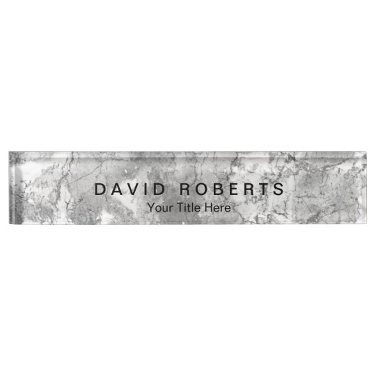 Elegant Marble Stone Texture Professional Desk Name Plate