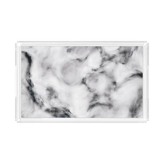 Elegant Marble style2 Acrylic Tray