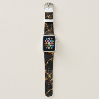 Elegant Marble style3 - Black Gold Apple Watch Band