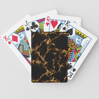 Elegant Marble style3 - Black Gold Bicycle Playing Cards