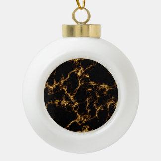 Elegant Marble style3 - Black Gold Ceramic Ball Christmas Ornament