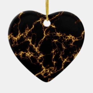 Elegant Marble style3 - Black Gold Christmas Ornament