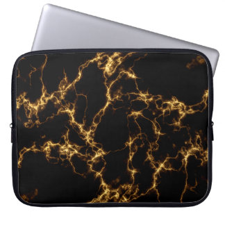 Elegant Marble style3 - Black Gold Laptop Sleeve