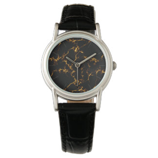Elegant Marble style3 - Black Gold Watch