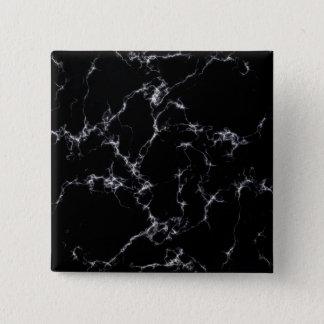Elegant Marble style4 - Black and White 15 Cm Square Badge