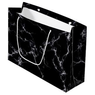 Elegant Marble style4 - Black and White Large Gift Bag